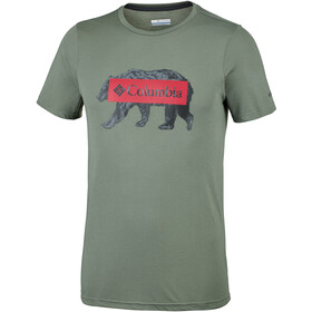 Columbia Box Logo Bear Tee Men Cypress